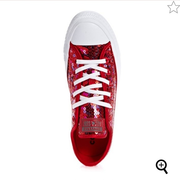 Converse Shoes | Red Sequin Converse